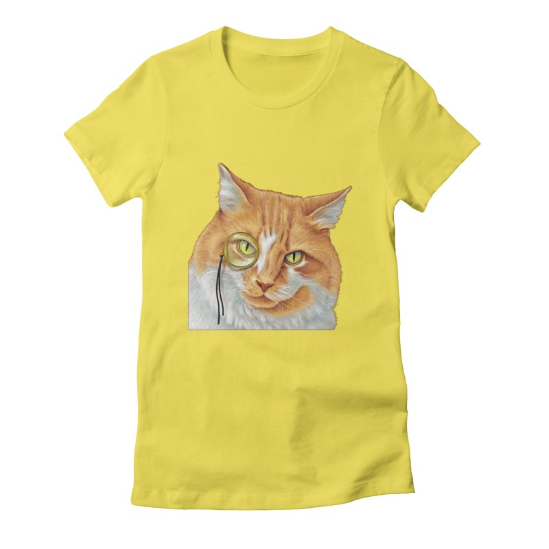 Captain Cat Women's Fitted T-Shirt by richgrote's Shop