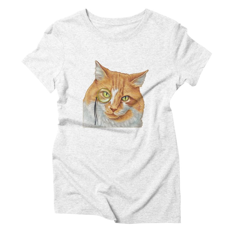 Captain Cat Women's Triblend T-shirt by richgrote's Shop