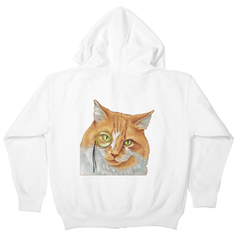 Captain Cat Kids Zip-Up Hoody by richgrote's Shop