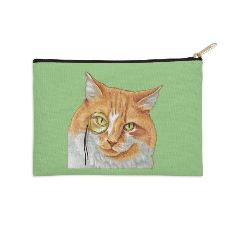 Captain Cat Accessories Zip Pouch by richgrote's Shop