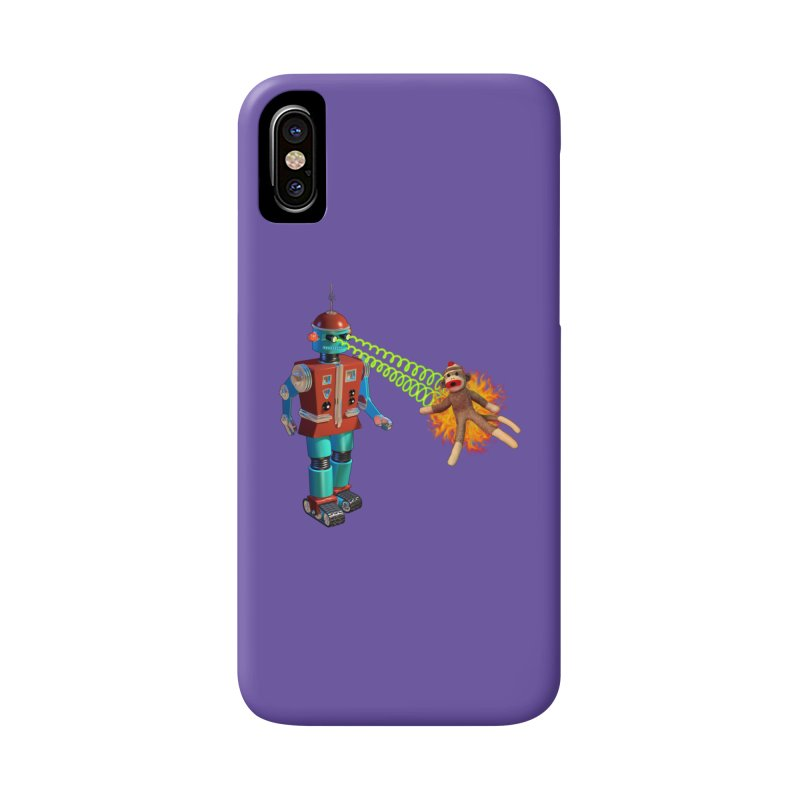 Robot vs Sock Monkey Accessories Phone Case by richgrote's Shop