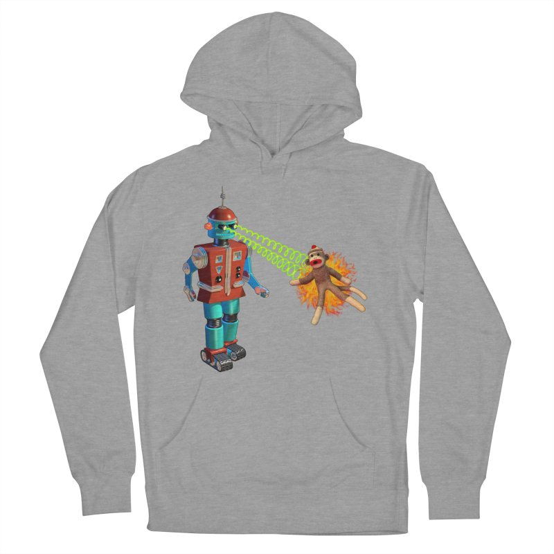 Robot vs Sock Monkey Women's Pullover Hoody by richgrote's Shop
