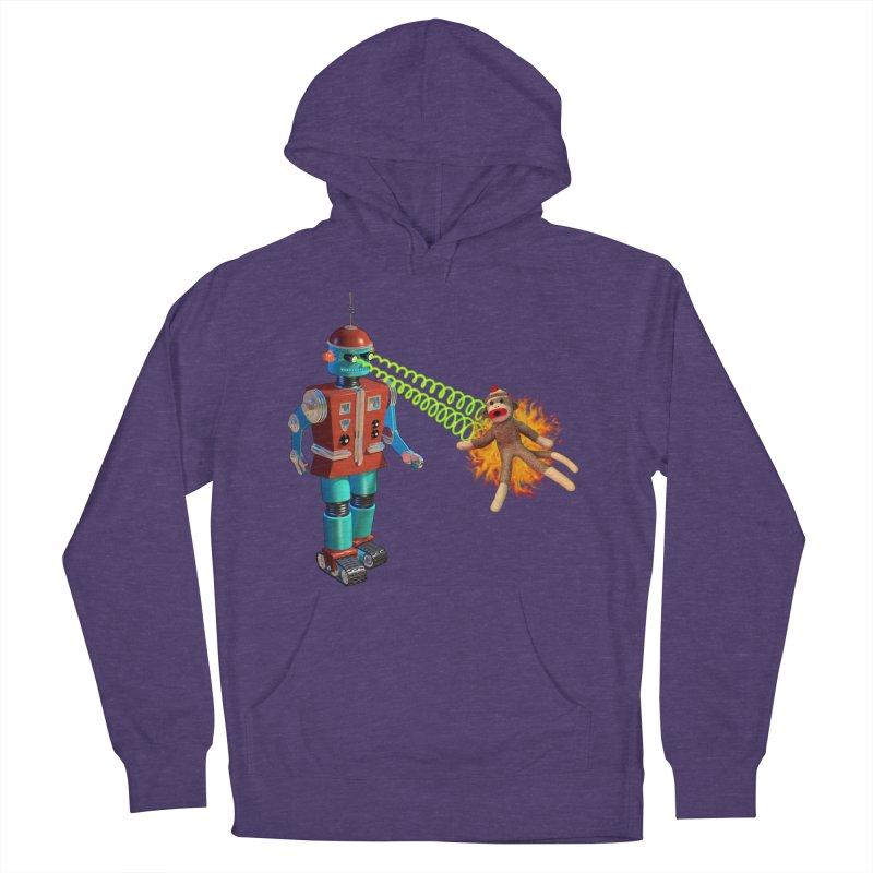 Robot vs Sock Monkey Men's Pullover Hoody by richgrote's Shop