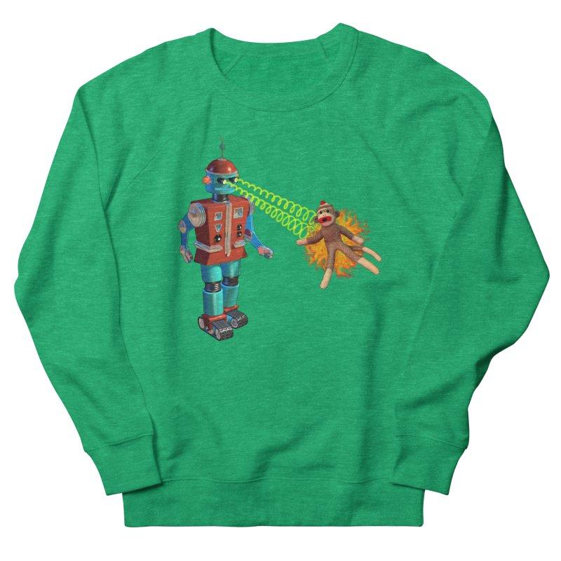 Robot vs Sock Monkey Women's French Terry Sweatshirt by richgrote's Shop