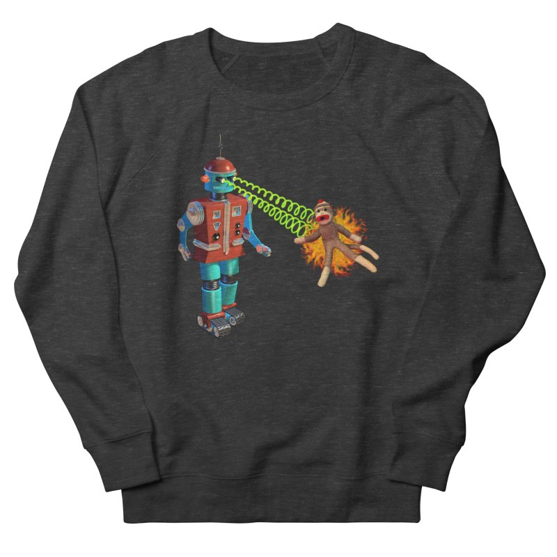 Robot vs Sock Monkey Women's Sweatshirt by richgrote's Shop