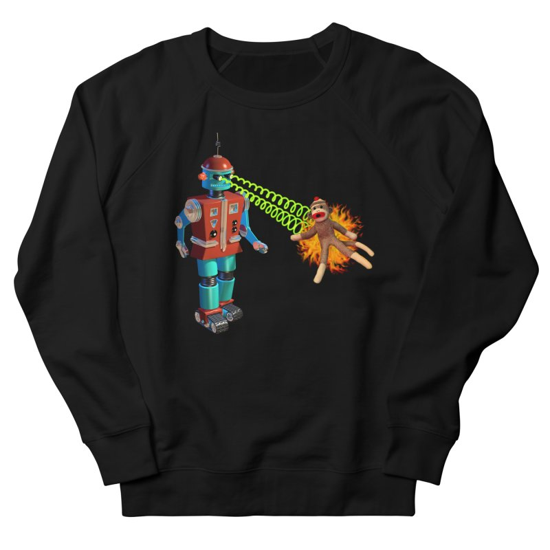 Robot vs Sock Monkey Women's Sweatshirt by richgrote's Shop