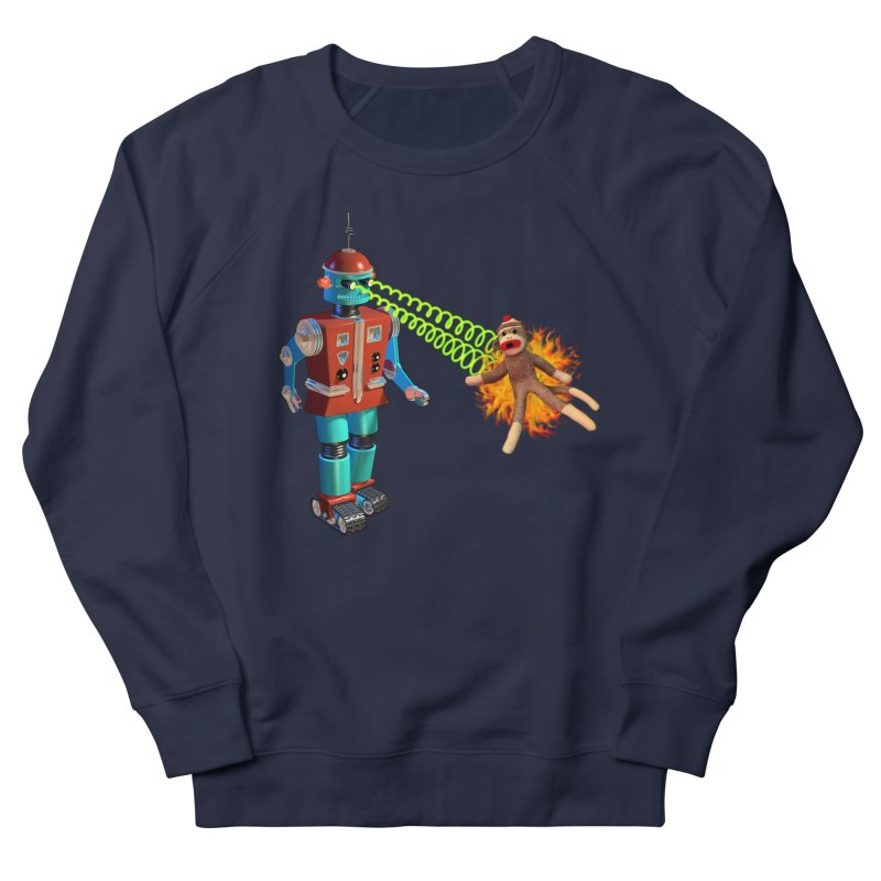 Robot vs Sock Monkey Men's Sweatshirt by richgrote's Shop