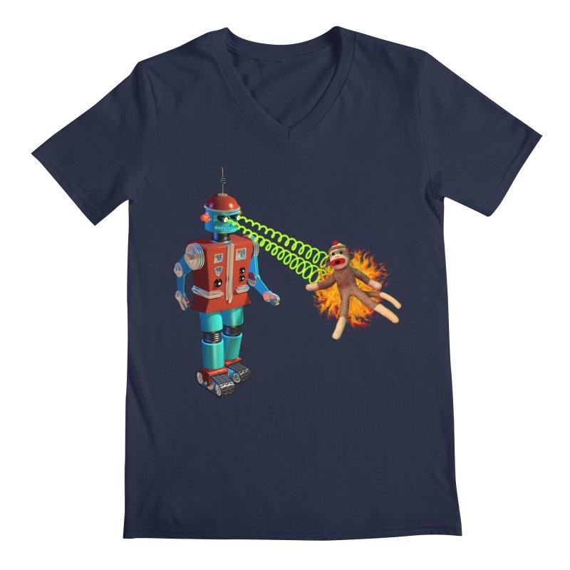 Robot vs Sock Monkey   by richgrote's Shop