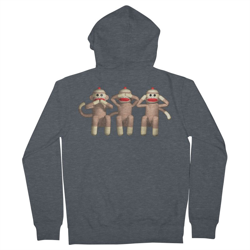 Sock Monkies SSH Men's Zip-Up Hoody by richgrote's Shop