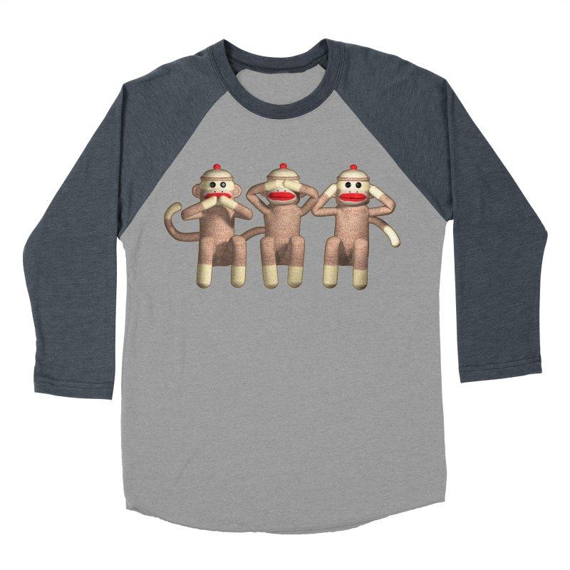 Sock Monkies SSH Men's Baseball Triblend T-Shirt by richgrote's Shop