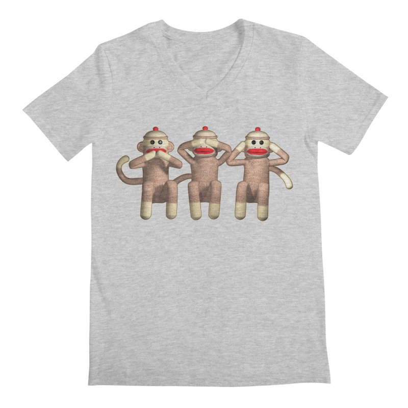 Sock Monkies SSH Men's V-Neck by richgrote's Shop