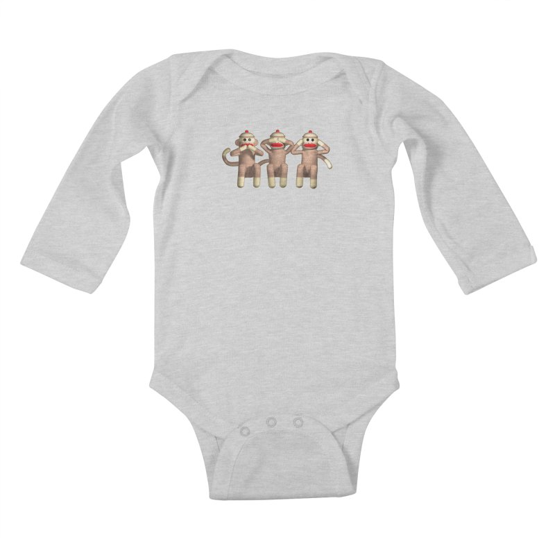 Sock Monkies SSH Kids Baby Longsleeve Bodysuit by richgrote's Shop