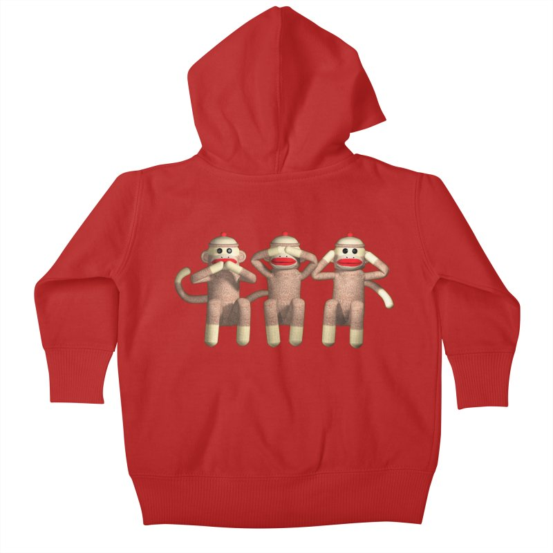 Sock Monkies SSH Kids Baby Zip-Up Hoody by richgrote's Shop