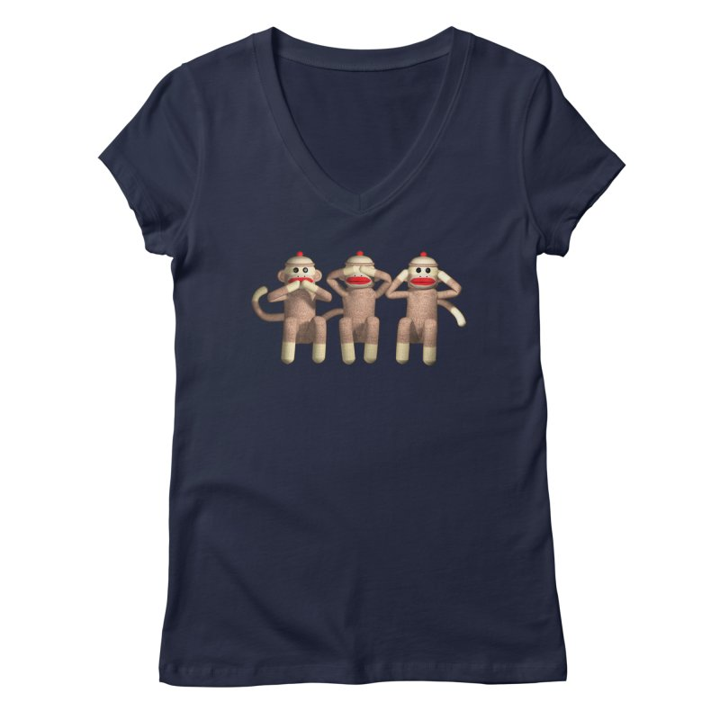 Sock Monkies SSH Women's V-Neck by richgrote's Shop