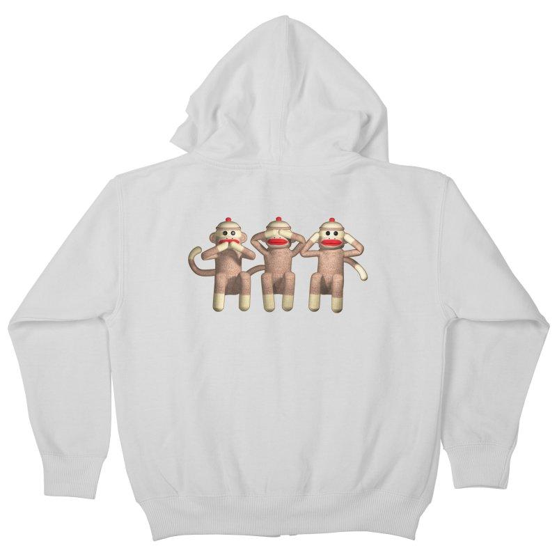 Sock Monkies SSH Kids Zip-Up Hoody by richgrote's Shop