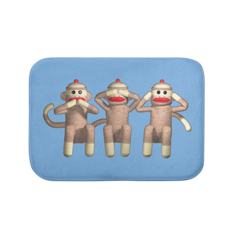 Sock Monkies SSH Home Bath Mat by richgrote's Shop