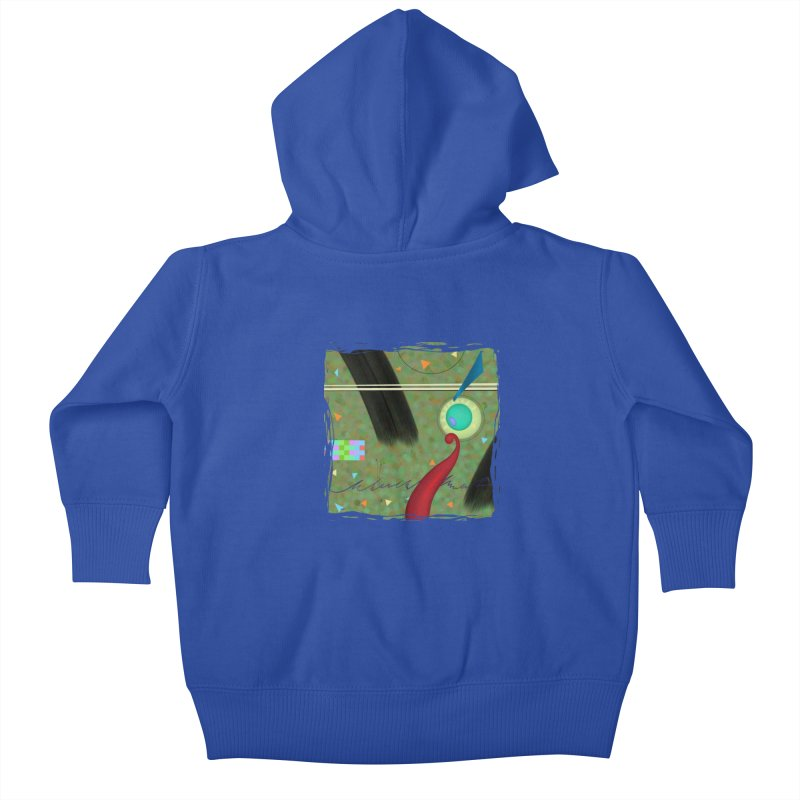 Dancing Clowns 24 Kids Baby Zip-Up Hoody by richgrote's Shop