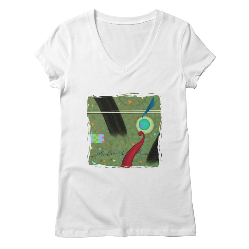 Dancing Clowns 24 Women's V-Neck by richgrote's Shop