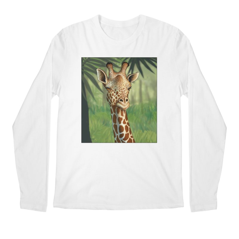 giraffe Men's Regular Longsleeve T-Shirt by richgrote's Shop