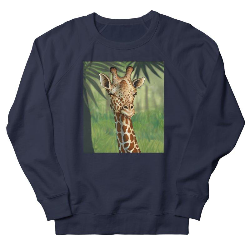 giraffe Men's French Terry Sweatshirt by richgrote's Shop