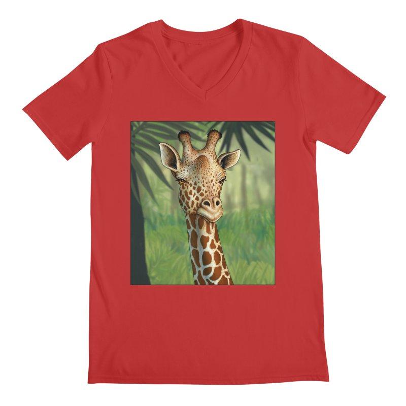 giraffe Men's Regular V-Neck by richgrote's Shop