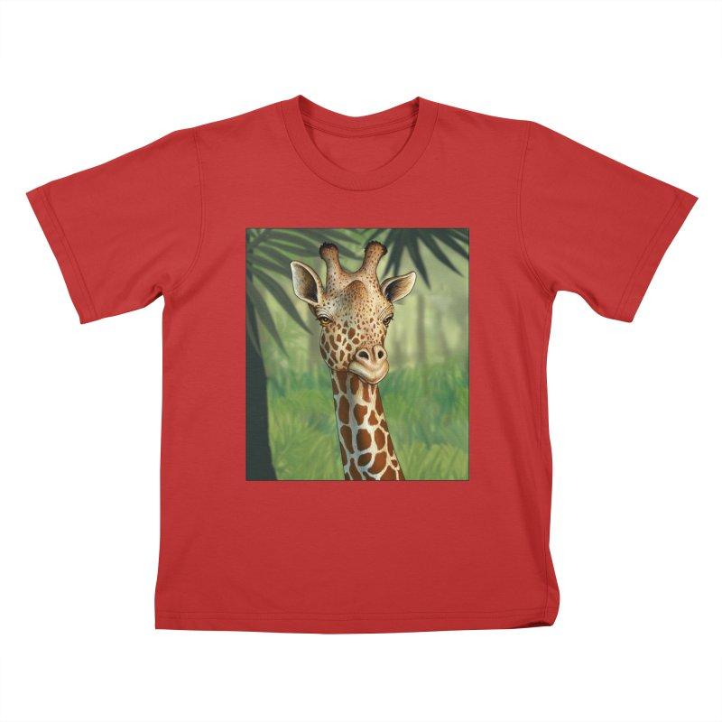 giraffe Kids T-Shirt by richgrote's Shop