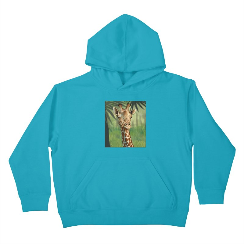 giraffe Kids Pullover Hoody by richgrote's Shop