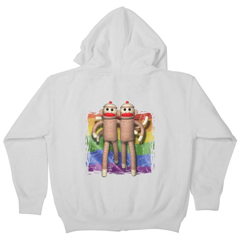 Guy Pride Kids Zip-Up Hoody by richgrote's Shop