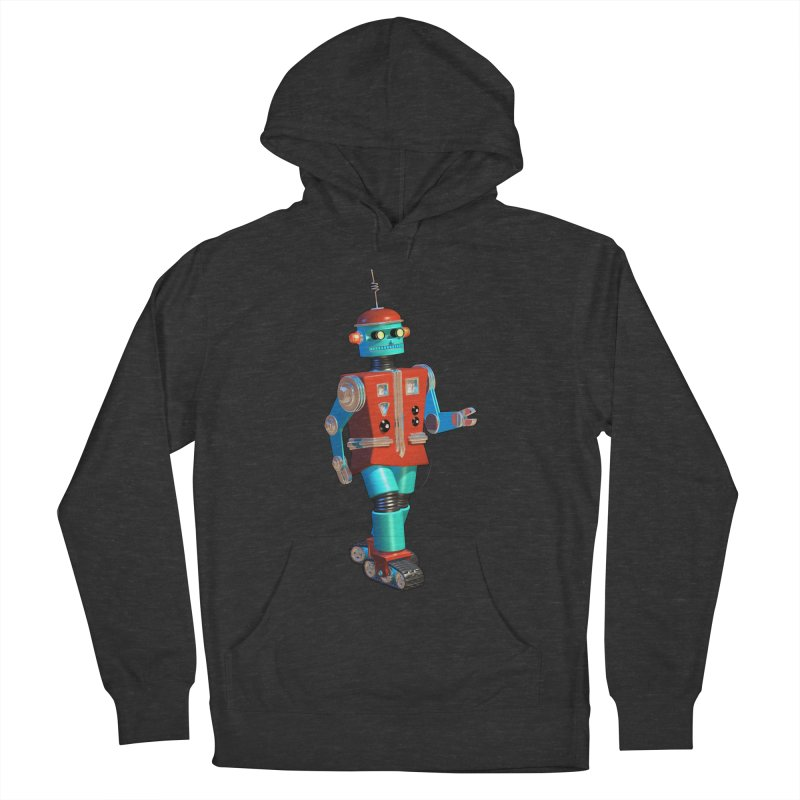 Robot Happiness Men's French Terry Pullover Hoody by richgrote's Shop