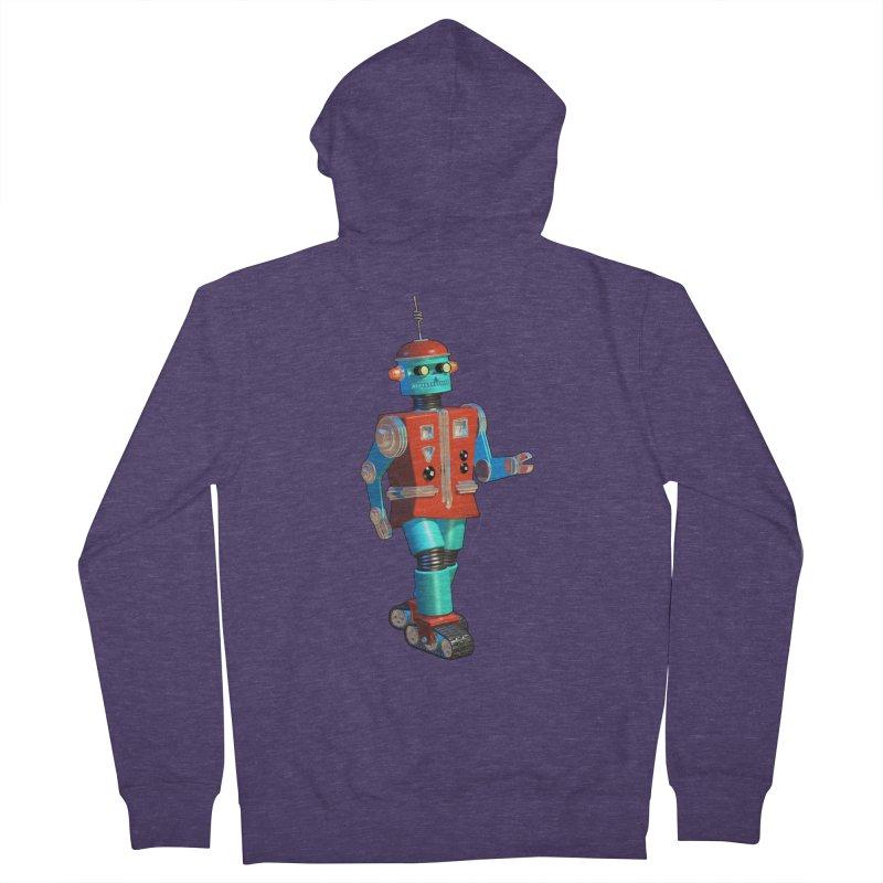 Robot Happiness Men's Zip-Up Hoody by richgrote's Shop