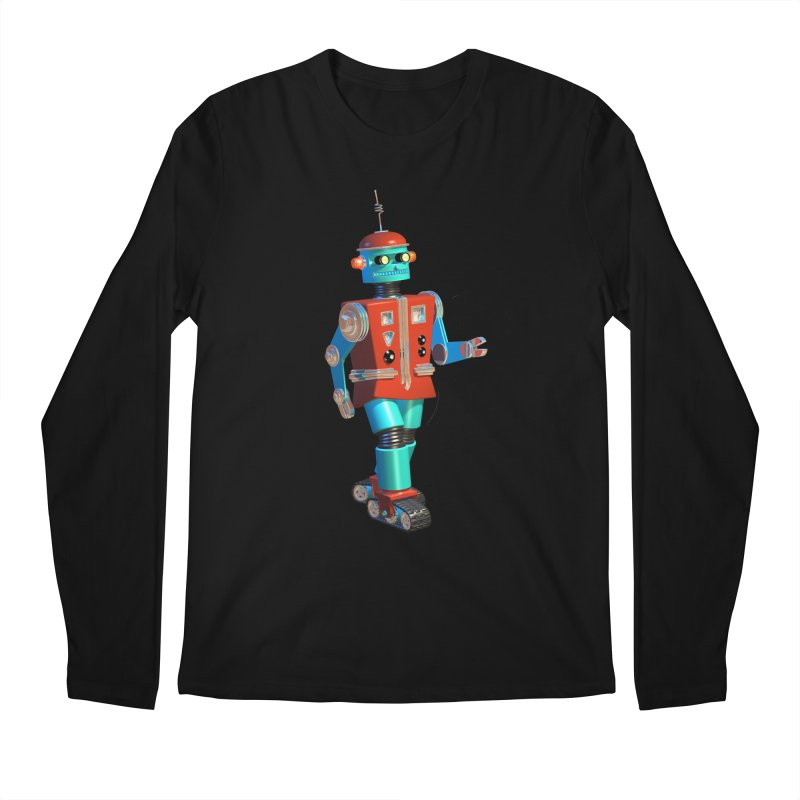 Robot Happiness Men's Regular Longsleeve T-Shirt by richgrote's Shop