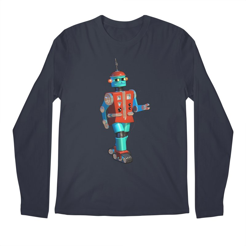 Robot Happiness Men's Longsleeve T-Shirt by richgrote's Shop