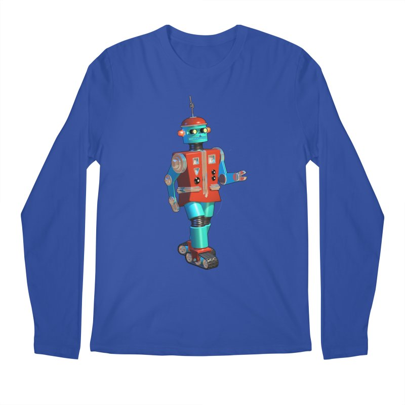 Robot Happiness Men's Regular Longsleeve T-Shirt by richgrote's Shop