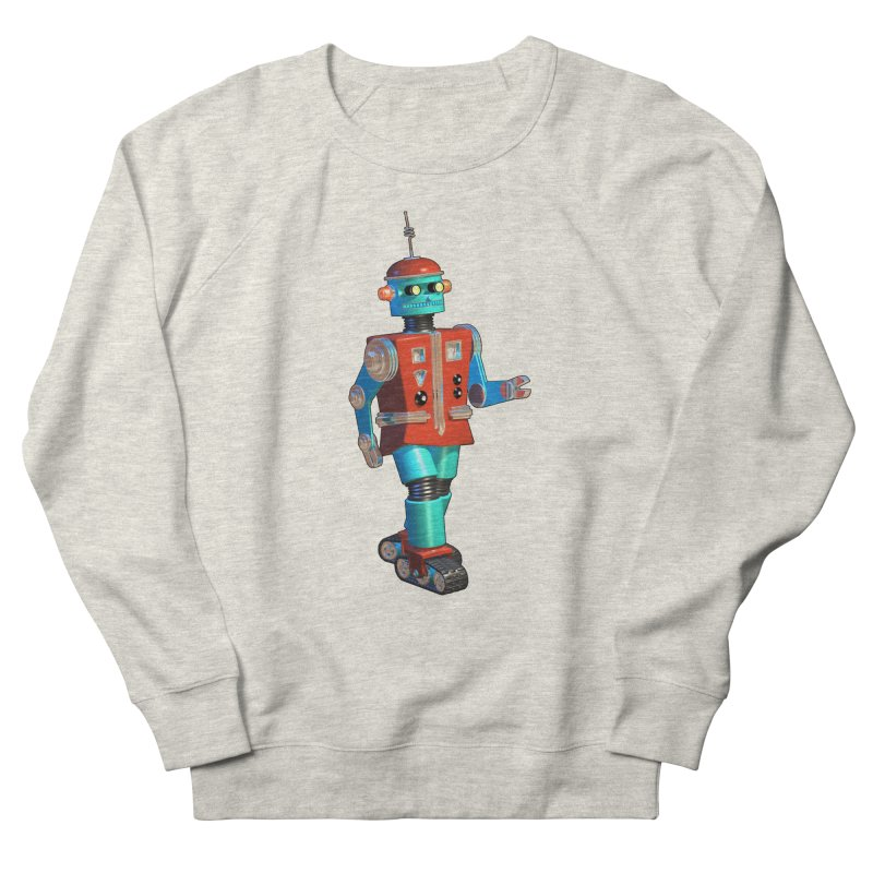 Robot Happiness Men's French Terry Sweatshirt by richgrote's Shop