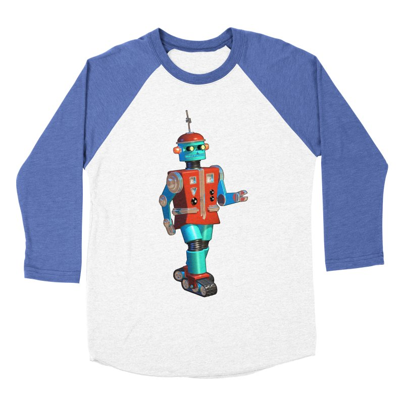 Robot Happiness Women's Baseball Triblend T-Shirt by richgrote's Shop