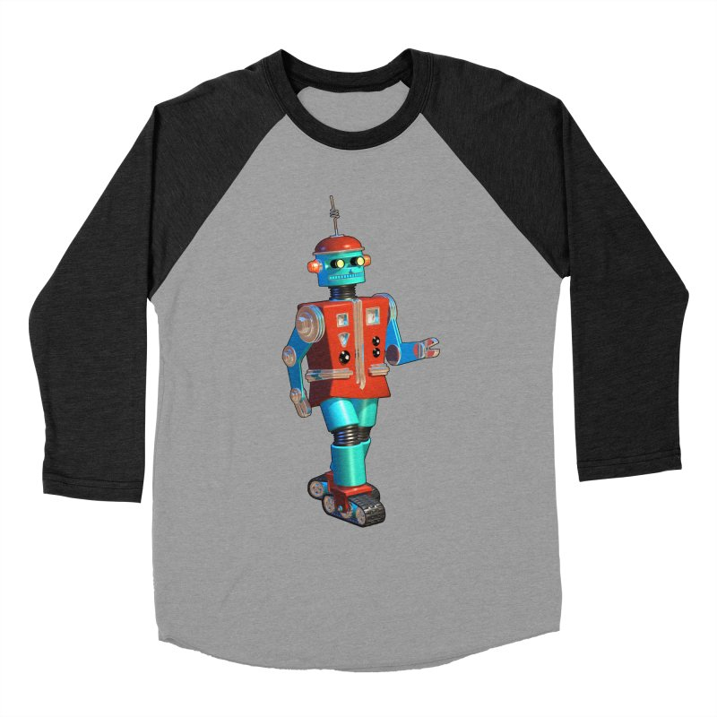 Robot Happiness Men's Baseball Triblend Longsleeve T-Shirt by richgrote's Shop