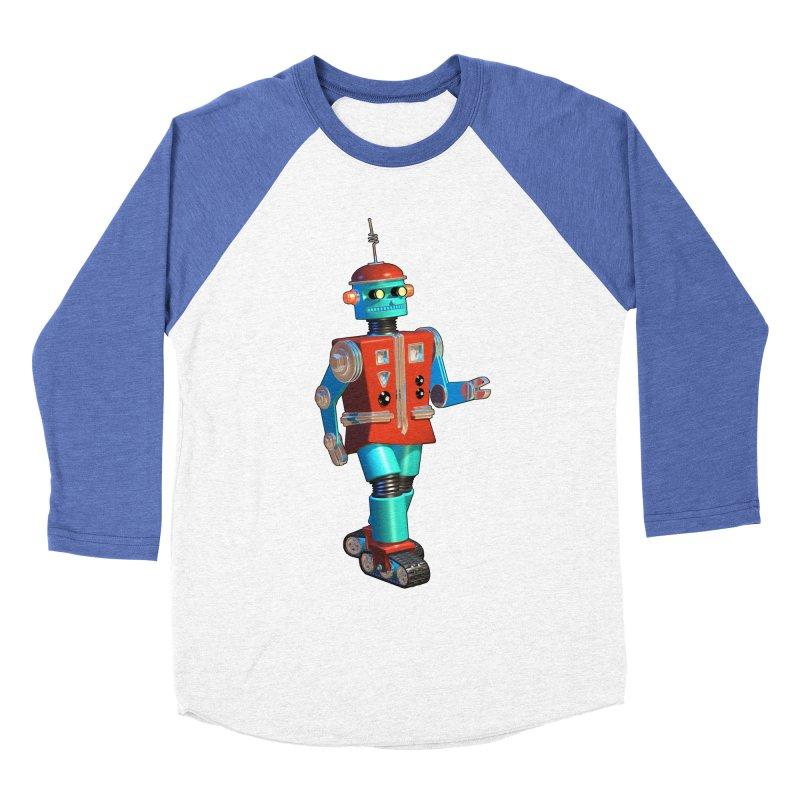 Robot Happiness Men's Baseball Triblend T-Shirt by richgrote's Shop