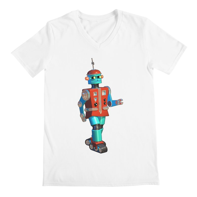 Robot Happiness Men's V-Neck by richgrote's Shop