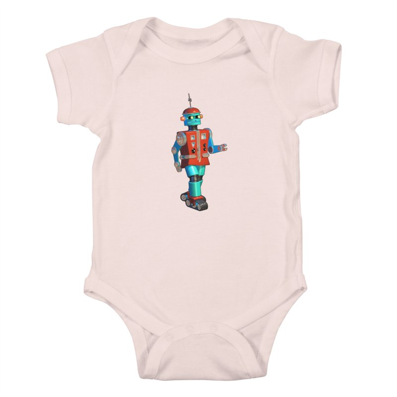 Robot Happiness Kids Baby Bodysuit by richgrote's Shop