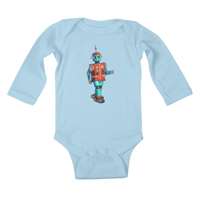 Robot Happiness Kids Baby Longsleeve Bodysuit by richgrote's Shop