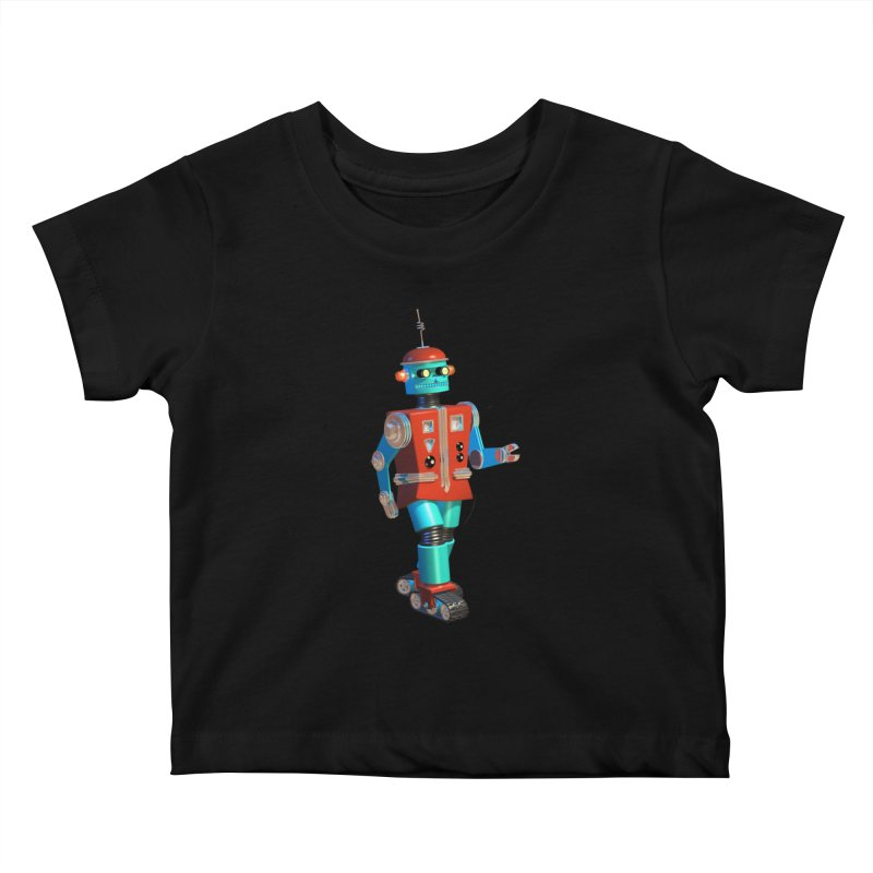 Robot Happiness Kids Baby T-Shirt by richgrote's Shop