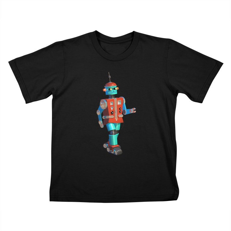 Robot Happiness Kids T-Shirt by richgrote's Shop