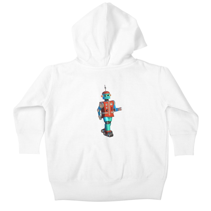 Robot Happiness Kids Baby Zip-Up Hoody by richgrote's Shop