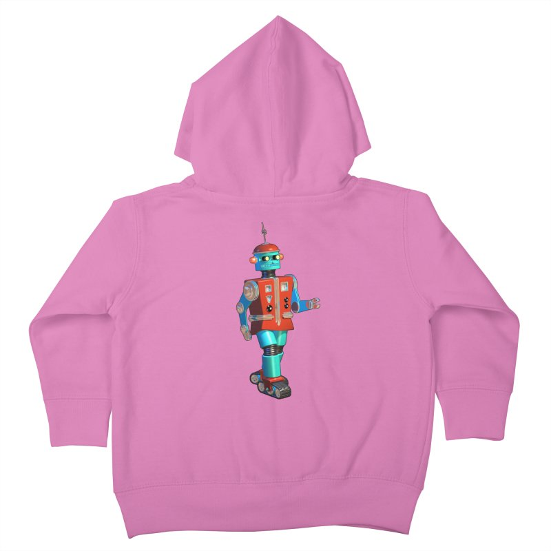Robot Happiness Kids Toddler Zip-Up Hoody by richgrote's Shop