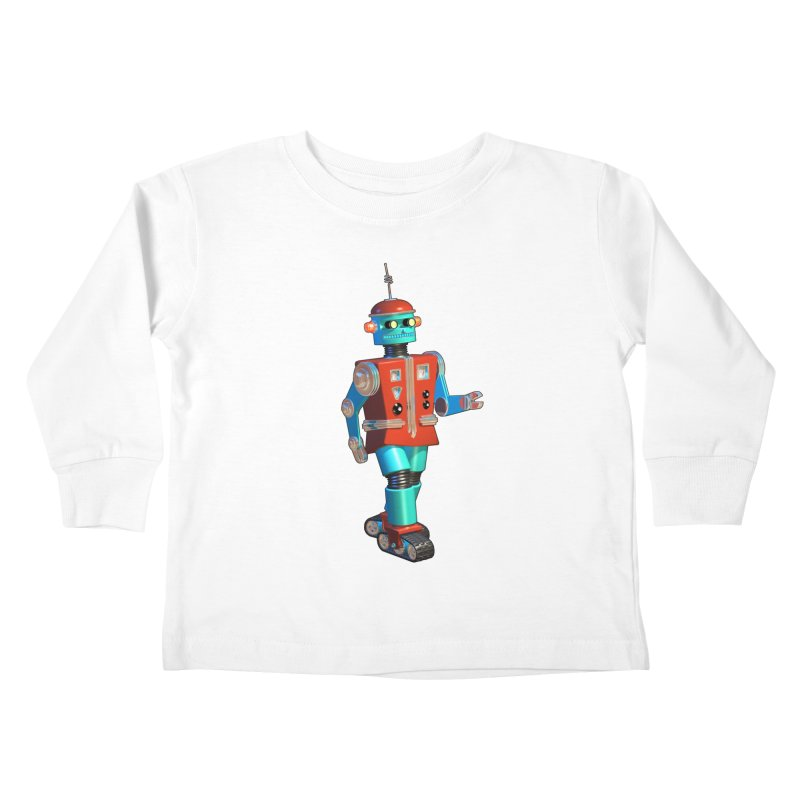 Robot Happiness Kids Toddler Longsleeve T-Shirt by richgrote's Shop