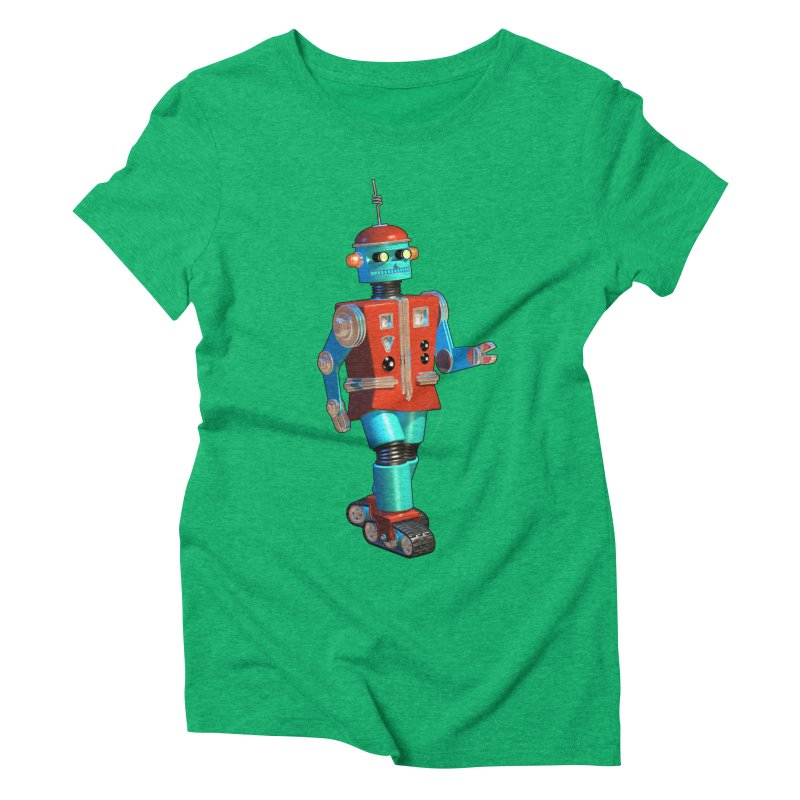Robot Happiness Women's Triblend T-shirt by richgrote's Shop