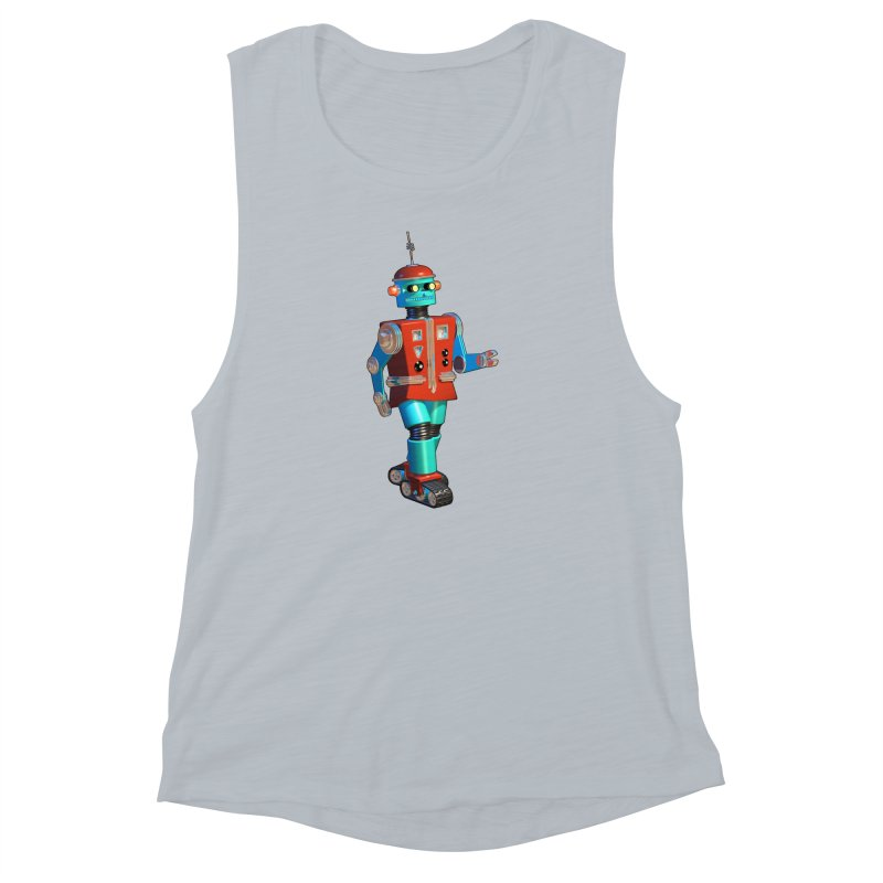 Robot Happiness Women's Muscle Tank by richgrote's Shop