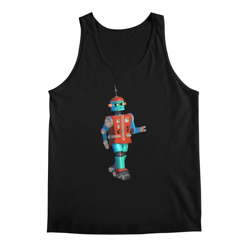 Robot Happiness Men's Regular Tank by richgrote's Shop
