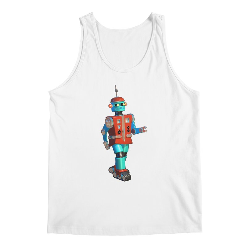 Robot Happiness Men's Tank by richgrote's Shop