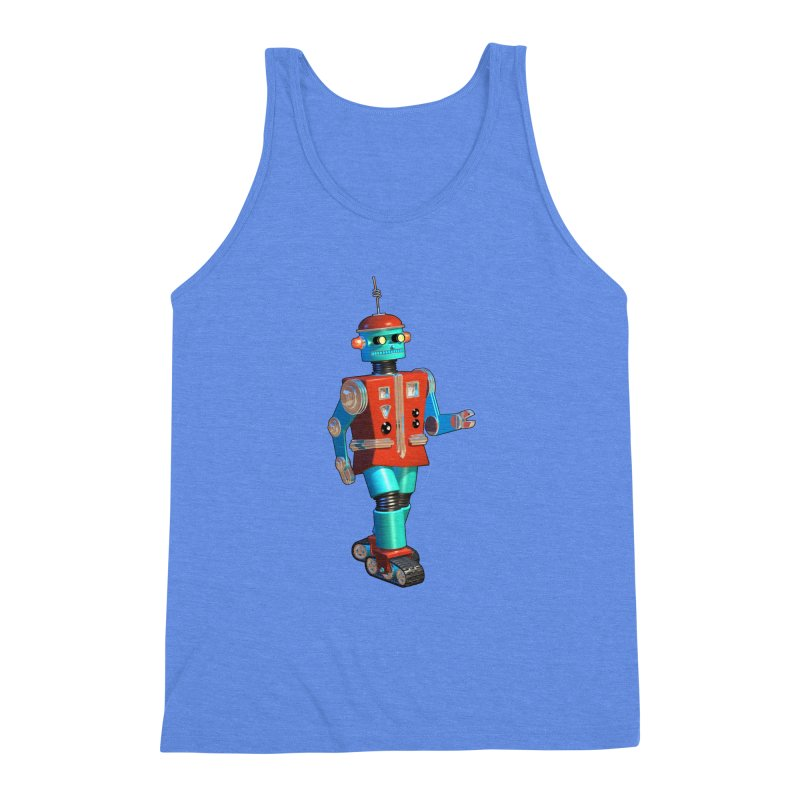 Robot Happiness Men's Triblend Tank by richgrote's Shop